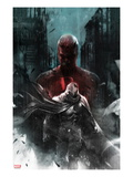Shadowland: Moon Knight 1 Cover: Moon Knight and Daredevil Walking Posters by Francesco Mattina