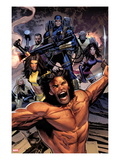 Uncanny X-Men 534: Wolverine, Cyclops, Psylocke, and X-23 Poster par Greg Land