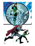 Thor No.617: Loki and Thor Running Prints by Pasqual Ferry