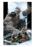 Ultimate Comics Ultimates No.8 Cover: Hulk Smashing Prints by Kaare Andrews