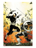 Daken: Dark Wolverine No.12 Cover: Daken and Task Master Fighting Prints by Giuseppe Camuncoli