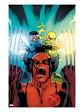 New Avengers 3 Cover: Wolverine, Dr. Strange, and Iron Fist Screaming Prints by Stuart Immonen