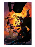 Uncanny X-Force No.11: Magneto, Sabretooth, Wolverine, Jean Grey, Sunfire Print by Esad Ribic
