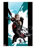 Ultimate Hawkeye 1 Cover: Hawkeye Shooting his Bow and Arrow Print by Kaare Andrews