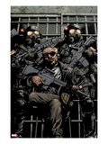 Ultimate Avengers vs. New Ultimates No.1: Nick Fury with Guns in Jail Prints by Leinil Francis Yu