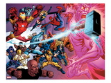 Avengers Academy No.11: Iron Man, Thor, Iron Fist, Luke Cage, Wolverine, Spider-Man and Others Prints by Tom Raney
