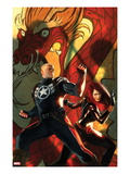 Secret Avengers No.6 Cover: Steve Rogers and Black Widow Posing Prints by Marko Djurdjevic