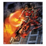 Heroes For Hire No.11 Cover: Elektra and Misty Knight Jumping Posters by Jay Anacleto