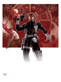 Secret Warriors 25 Cover: Nick Fury Standing with a Gun Prints by Paul Renaud