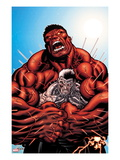 Avengers: X-Sanction 3 Cover: Cable and Red Hulk Fighting Print by Ed McGuiness
