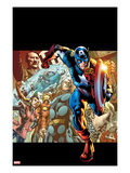 Captain America: Man out of Time No.1 Cover: Captain America, Thor, Wasp, and Iron Man Running Print by Bryan Hitch