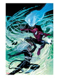Ultimate Spider-Man No.154 Cover: Black Cat, Spider-Man, and Mysterio Fighting and Jumping Posters by Sara Picheli