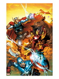Avengers vs. Pet Avengers No.3 Cover: Captain America, Iron Man, Lockjaw, and Thor Fighting Poster by Ig Guara