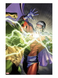 Avengers No.24.1: Vision and Magneto Fighting Prints by Brandon Peterson