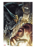 Black Panther: The Man Without Fear No.517 Cover: Black Panther Fighting Prints by Simone Bianchi