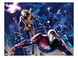 New Avengers Annual 1: Iron Patriot, Sentry, Wolverine, and Hawkeye Flying Affiches par Gabriele DellOtto