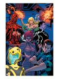 Avengers Academy 12: Striker, Veil, Hazmat, Finesse, Mettle, and Reptil Poster by Tom Raney