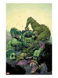 Incredible Hulk 4 Cover: Hulk Fighting Prints by Leinil Francis Yu