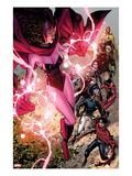 Avengers: The Childrens Crusade No.5: Scarlet Witch, Wiccan, Patriot, Ant-Man, Stature, and Others Print by Jim Cheung