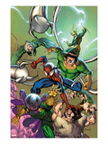 Marvel Adventures Spider-Man 17 Cover: Spider-Man, Doctor Octopus, Kraven The Hunter and Others Prints by Cameron Stewart