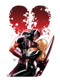 Hawkeye & Mockingbird No.6 Cover: Hawkeye and Mockingbird Hugging Posters by Paul Renaud
