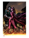 Avengers: The Childrens Crusade No.7 Cover: Scarlet Witch and Dr. Doom Standing Together Print by Jim Cheung