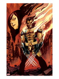 Wolverine and Jubilee No.3 Cover: Wolverine Flaming Art by Nimit Malavia