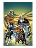 Alpha Flight 5 Cover: Guardian, Aurora, Northstar, Puck, Snowbird, Sasquatch, Shaman, Marina Prints by Carlo Pagulayan