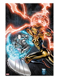Silver Surfer 5 Cover: Silver Surfer and Seeker Flying in Space Prints by Carlo Pagulayan