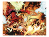 New Avengers 4: Spider-Man and Ms. Marvel Fighting Prints by Stuart Immonen