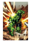 Incredible Hulks No.615 Cover: Hulk Smashing Art by Carlo Pagulayan