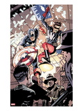 Captain America and Bucky No.621: Busting in on Some Crime! Posters by Chris Samnee