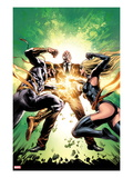 New Avengers No.22 Cover: Ms. Marvel, Iron Fist, and Norman Osborn Fighting Prints by Mike Deodato Jr.