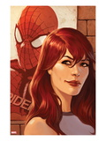 Web of Spider-Man No.11 Cover: Mary Jane Watson in front of a Poster Art by Jelena Djurdjevic