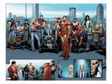 House of M MGC No.1: Captain America, Carol Danvers, Wonder Man, Professor X, Iron Man and Others Poster by Olivier Coipel