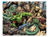 Incredible Hulks 621: Hulk Fighting Art by Paul Pelletier