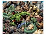 Incredible Hulks No.621: Hulk Fighting Art by Paul Pelletier