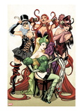 Women of Marvel 1 Cover: Enchantress, Black Cat, Medusa, and Satana Posing Prints by Sara Pichelli