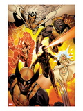 Astonishing X-Men 35: Storm, Cyclops, Armor, Beast, Wolverine, Frost Prints by Phil Jimenez
