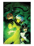 Avengers Academy 8 Cover: Hazmat, Veil, and Finesse Standing Prints by Mike McKone