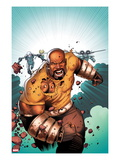 Thunderbolts No.168 Cover: Luke Cage Running Prints by Kev Walker