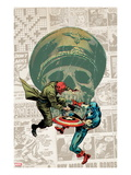 Captain America: The 1940s Newspaper Strip No.3 Cover: Red Skull Fighting Captain America Prints by Butch Guice