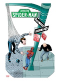 Spidey Sunday Spectacular! No.1 Cover: Spider-Man Leaning Against a Lamp Post Posters by Marcos Martin