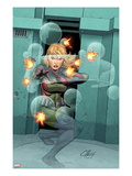 Marvel Adventrues Super Heroes No.7 Cover: Invisible Woman Crouching Poster by Clayton Henry