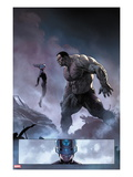 Ultimate Comics Ultimates No.8: Mr. Fantastic and Hulk Prints by Esad Ribic