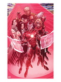 Avengers: The Childrens Crusade 5: Iron Lad, Hawkeye and Stature Print by Jim Cheung