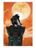 Moon Knight 4 Cover: Moon Knight Crouching on a Column Prints by Alex Maleev