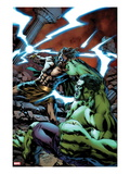 Incredible Hulks 622 Cover: Fighting and Smashing Prints by Carlo Pagulayan