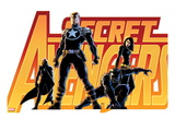 Secret Avengers No.16 Cover: Steve Rogers, Beast, Black Widow, and Moon Knight Prints by John Cassaday