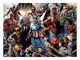 Annihilators: Earhfall No.2: Wolverine, Valkyrie, Captain America, Thing, Spider-Man and Others Prints by Tan Eng Huat